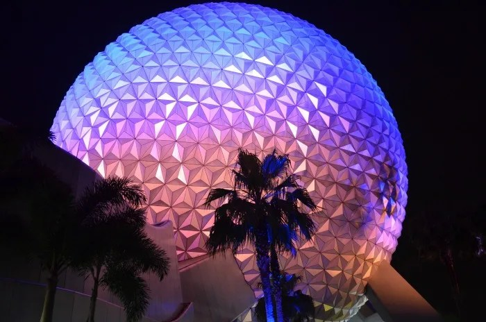 Flying to Disney World Epcot Spaceship Earth