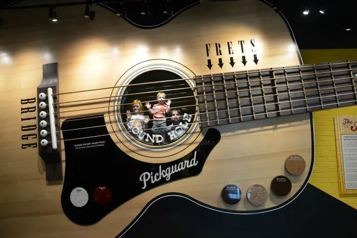 Nashville with Young Kids - Country Music Hall of Fame Guitar Slide