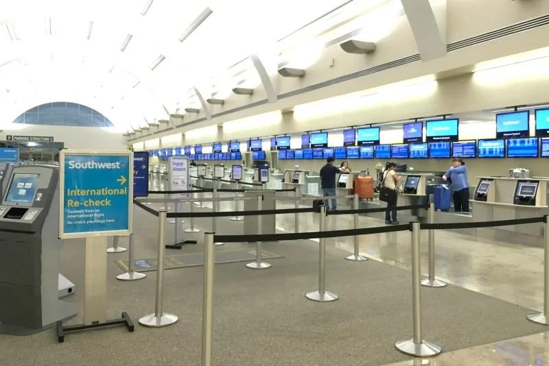 Flying to Disneyland - John Wayne Orange County Southwest Check in