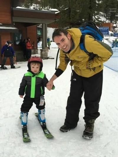 Skiing Diamond Peak with Kids - Toddler Skiing