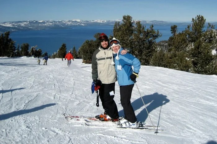 Skiing Tahoe with Kids - Heavenly Lake Tahoe View