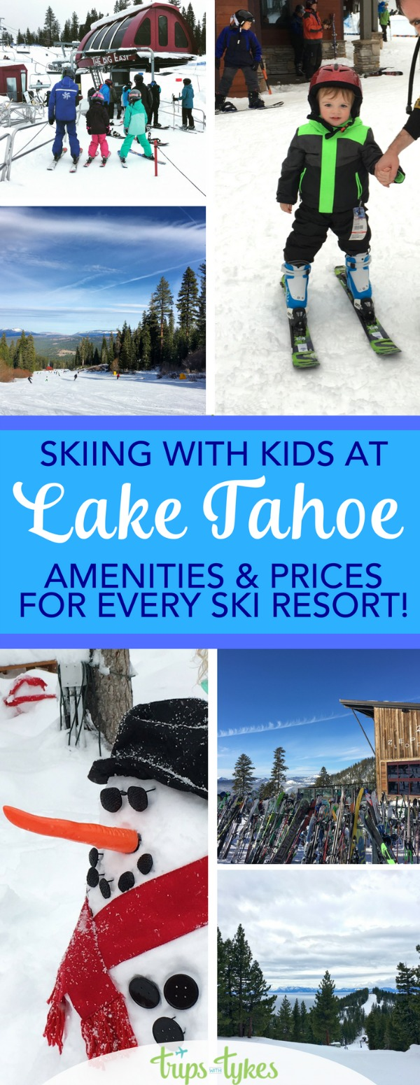 Planning a ski trip to Lake Tahoe in California and Nevada with kids? Find out which resort has the cheapest ski school, where kids ski free, and which mountains have the best family-friendly amenities with this complete comparison guide of every resort in the Tahoe area.