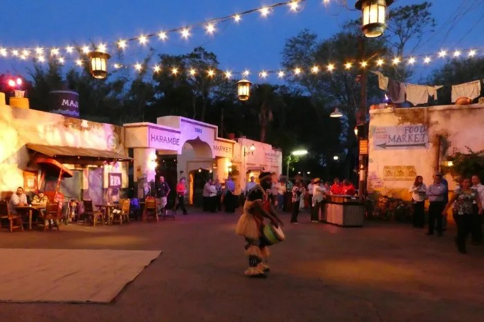 Disney Animal Kingdom at Night - Harambe Market