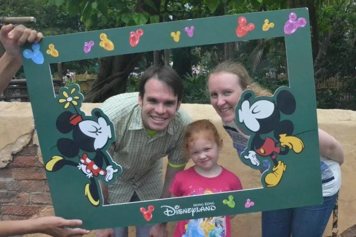 Top Attractions at Hong Kong Disneyland - Family Photo