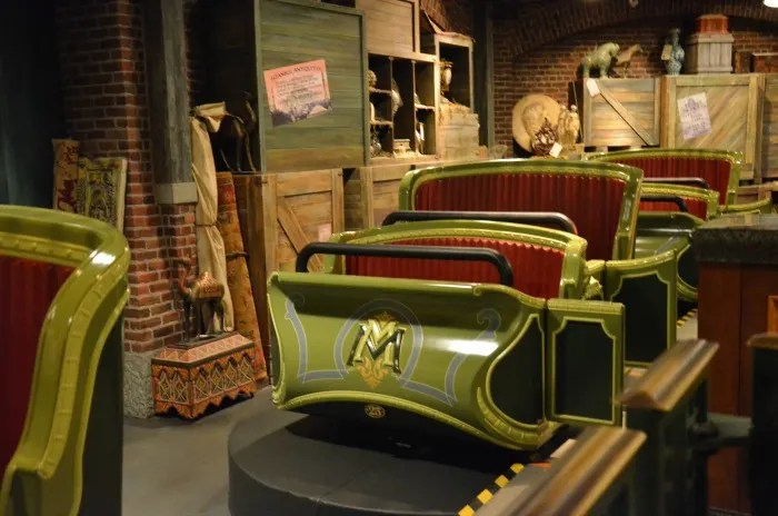 Top Attractions at Hong Kong Disneyland - Mystic Manor Vehicles