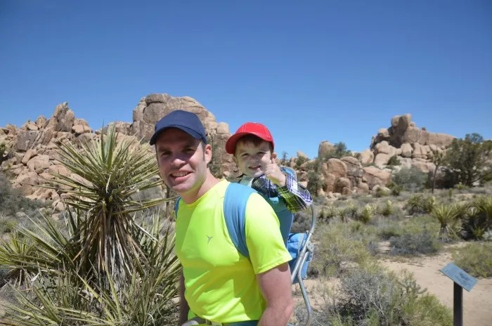 Hiking with Kids - Joshua Tree National Park in Baby Backpack