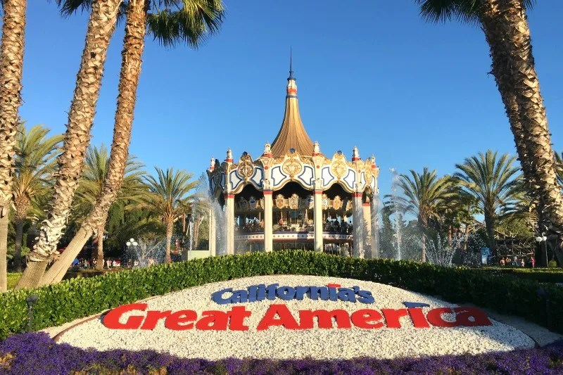 Californias Great America with Kids - Carousel Columbia