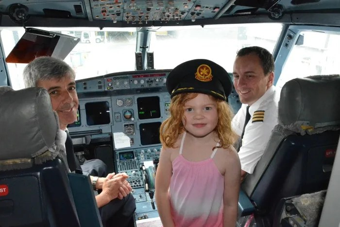 Frequent Flyer Accounts for Kids - Cockpit Visit