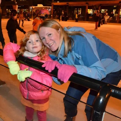 Skiing Northstar with Kids - Ice Skating