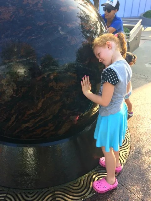 Things to Do with Preschoolers at Disneyland Kugel Ball Tomorrowland