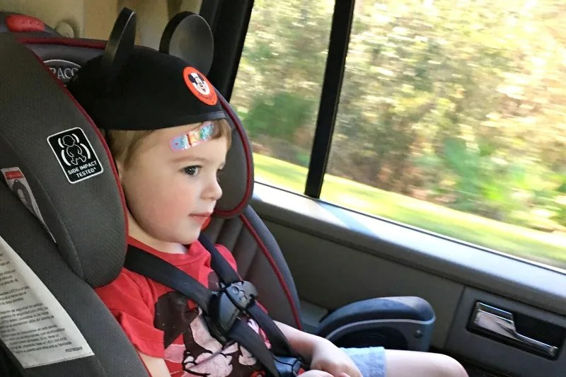 Car Seats on International Trips - Child in Uber Car Seat