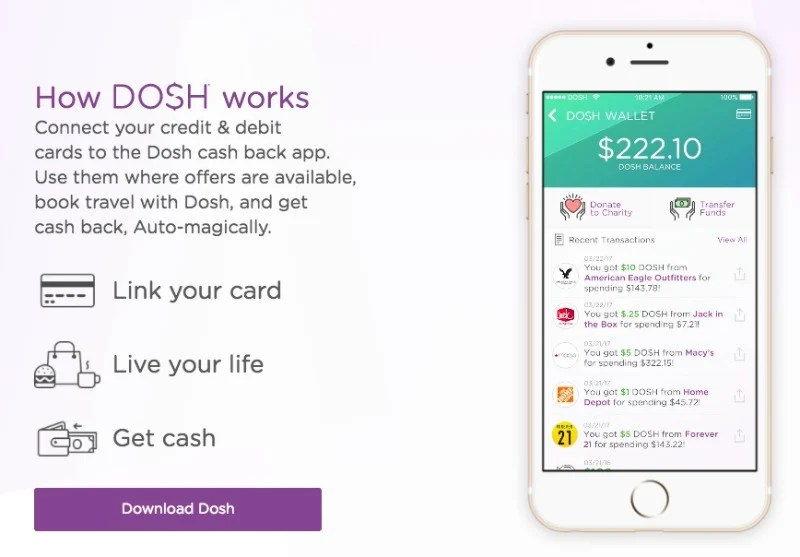 Easy Cash Back without the Work: Why You Should Download Dosh