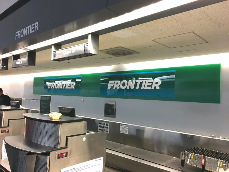 Fly Frontier Airlines - Check in Counter at SFO