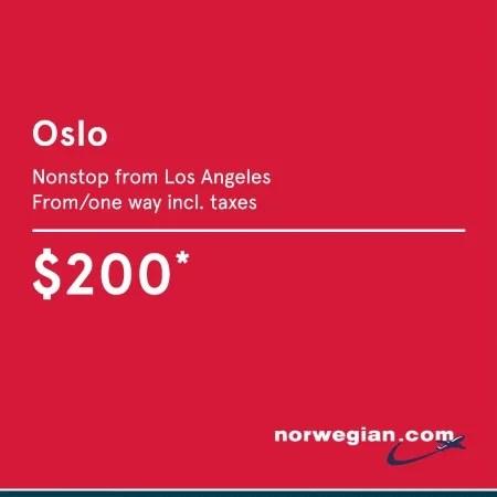 Norwegian Airlines - Oslo Flight Deals