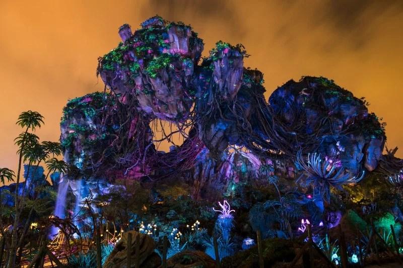 Disney Attractions Around the World - Pandora World of Avatar at Night