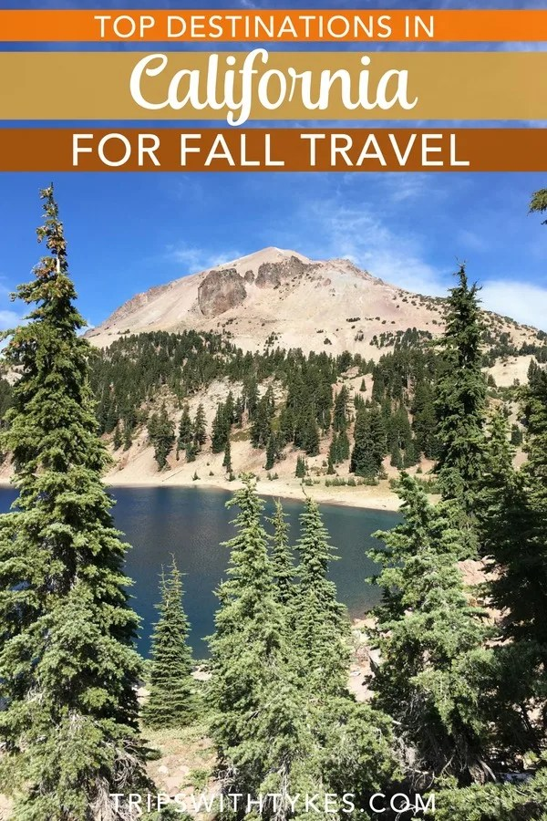 Top family-friendly destinations in California in the fall. Find out where to find autumn colors in the Golden State, the best national park adventures in the shoulder season, top wine destinations, and many more. #california #visitcalifornia #falltravel #familytravel