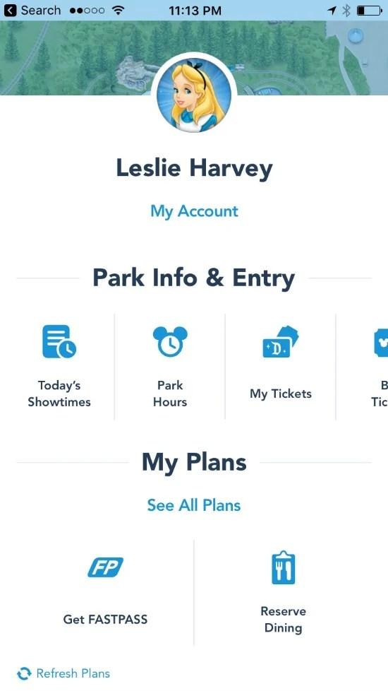 Disneyland MaxPass - Disneyland App
