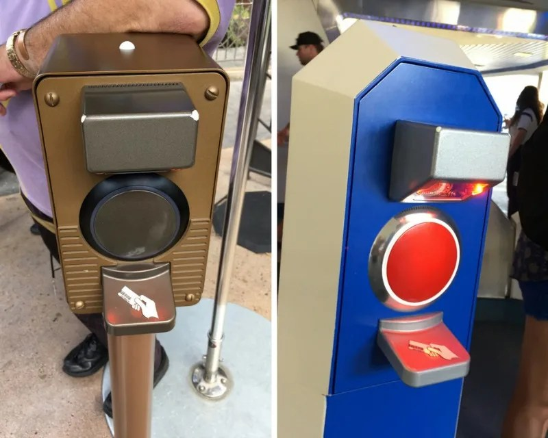 Disneyland Maxpass - Ride Return Scanners