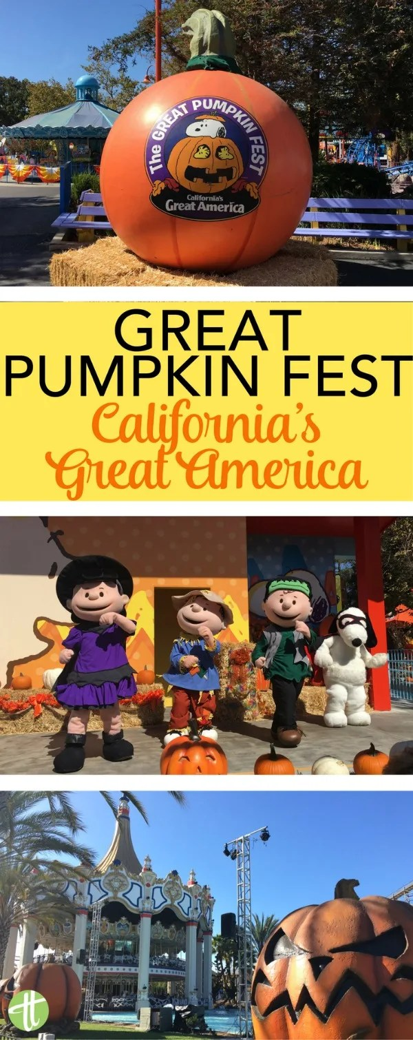 The Great Pumpkin Fest at California's Great America theme park in Santa Clara, California: Tips for fall fun with younger kids celebrating Halloween with Peanuts characters.