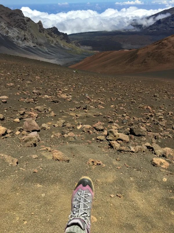 National Parks Tips for Beginners - Haleakala National Park Hiking Boots