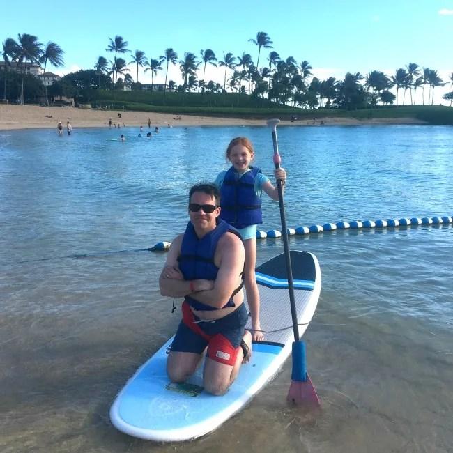 Disney Aulani Splurges - Paddleboard Rental