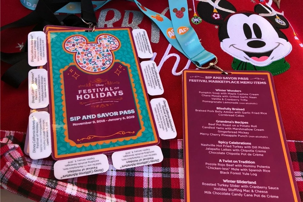Disneyland Holidays - Festival of Holidays Sip and Savor Pass