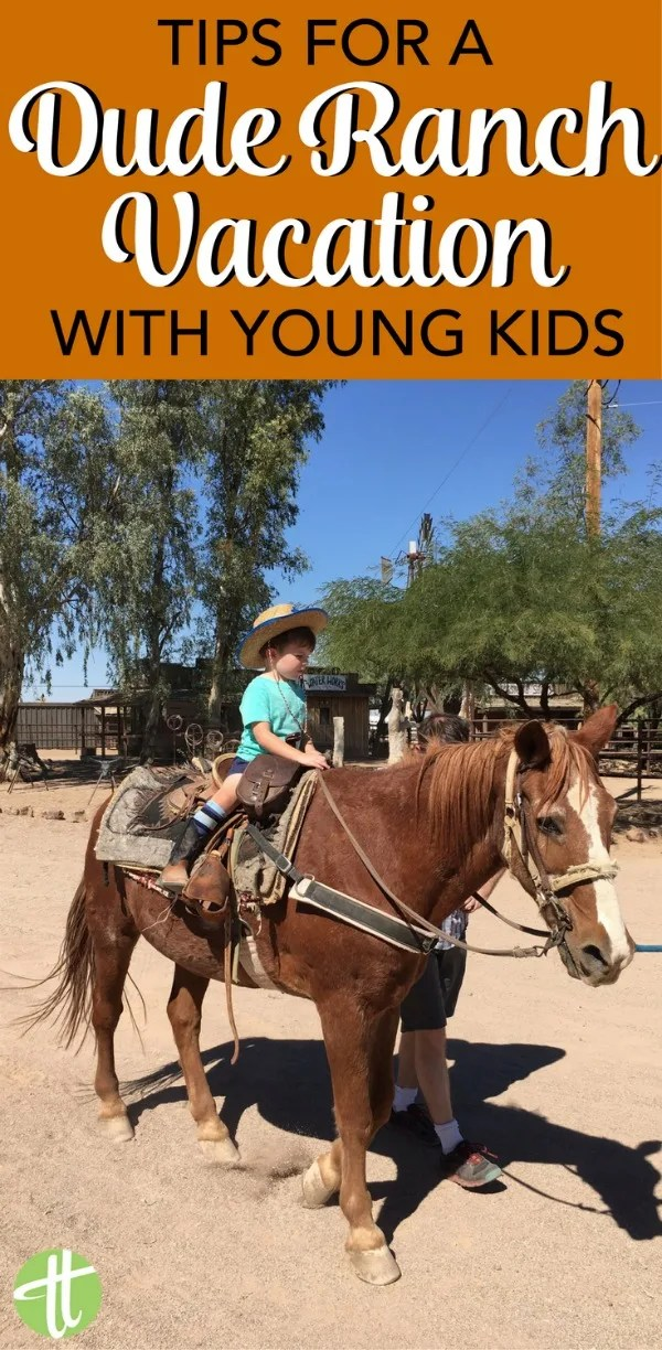 Are your kids ready for a dude ranch vacation? Tips for enjoying a dude ranch outdoor adventure even with babies, toddlers, or younger kids traveling too.