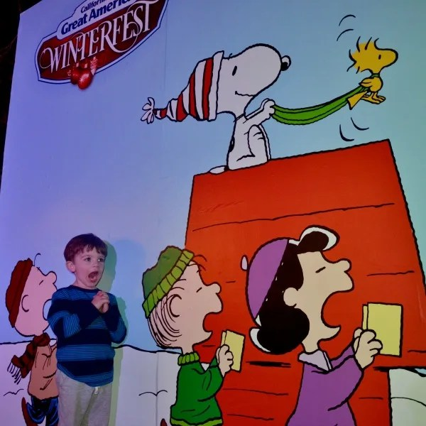 WinterFest at Great America - Peanuts Photo Opp