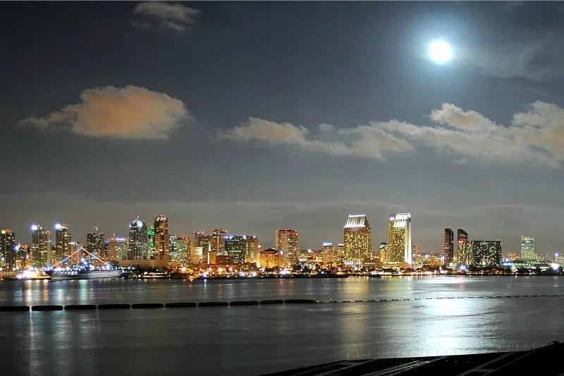 Winter Destinations in California - San Diego at Night