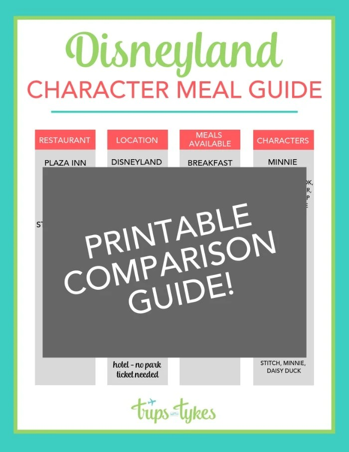 photo relating to You're Going to Disneyland Printable identified as Disneyland Temperament Food items: Detailed Lead Absolutely free Printable