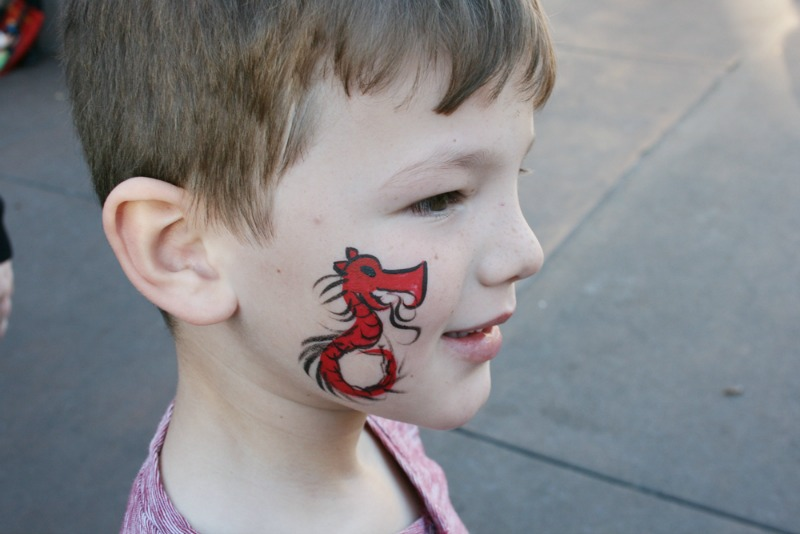 Disneyland Lunar New Year - Face Painting Red Dragon