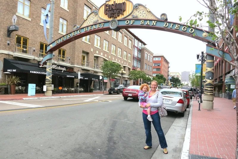 Warm Weather Getaways for Families in Winter - San Diego Gaslamp Quarter