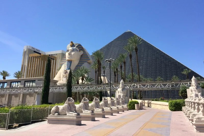 Warm Weather Getaways in Winter with Kids - Las Vegas Luxor Hotel