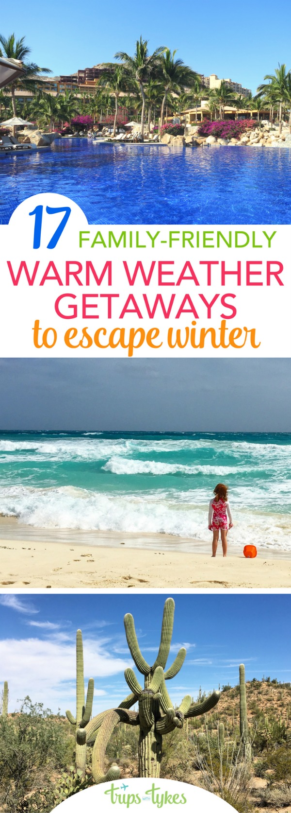 Sick of winter weather? Warm weather destinations and getaways to escape the snow and ice this winter - all perfect for family travelers with kids of all ages! #familytravel #traveltip #hawaii #mexico #TMOM