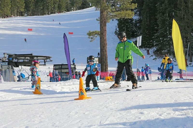 First Time in Ski School - Skiing with Diamond Peak Instructor