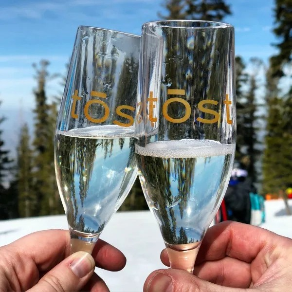 Why Ski School is Worth it for Kids - Northstar California tost glasses