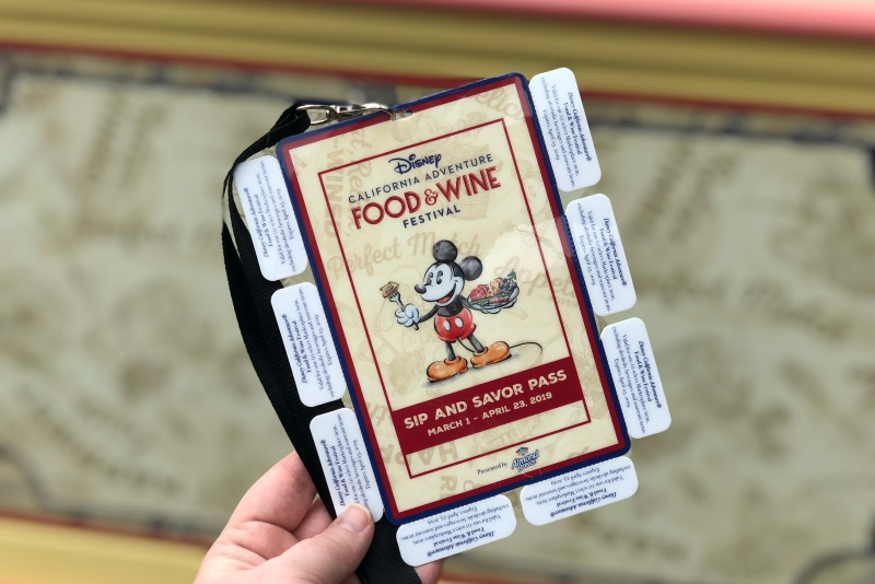 Disneyland Food and Wine Festival - 2019 Sip and Savor Pass