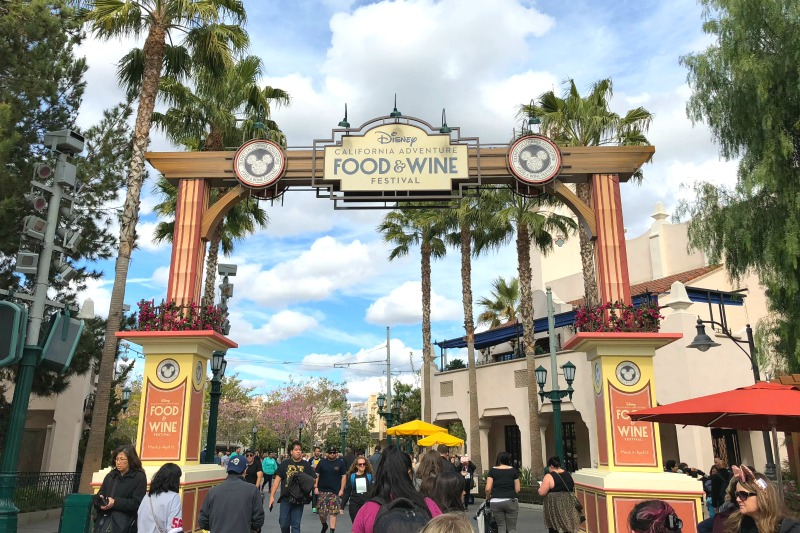 Disneyland Food and Wine Festival Tips - Food and Wine Festival Entrance