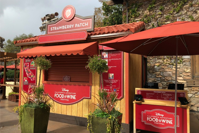 Disneyland Food and Wine Festival Tips - Strawberry Patch Festival Marketplace