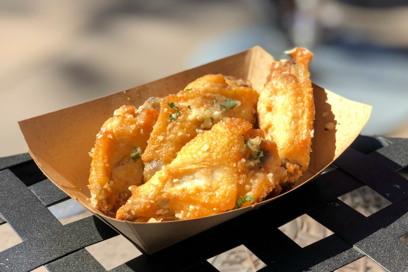 Food and Wine Festival at Disneyland - Parmesan Chicken Wings at Cluck-a-Doodle-Moo