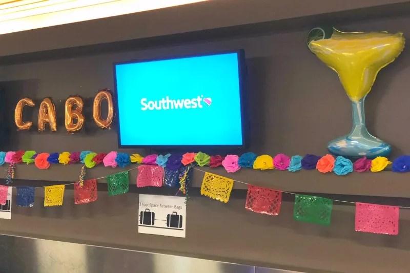 Southwest Inaugural Flight to Cabo - Checkin Counter Decor