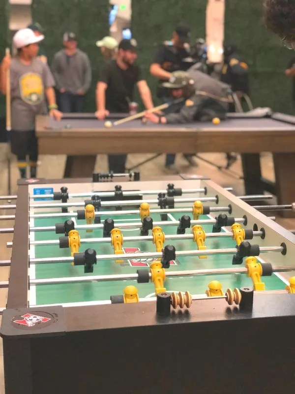 Oakland As Games with Kids - Foosball in Treehouse
