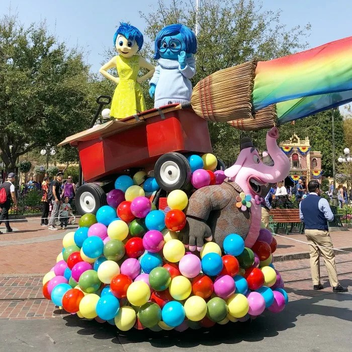 New at Disneyland Fall Winter 2018 - Inside Out Float in Pixar Play Parade