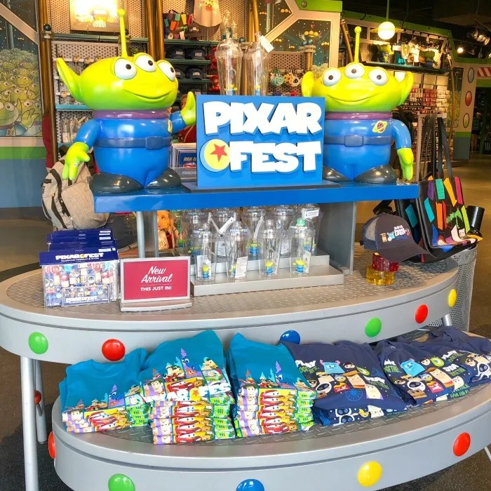 Pixar Fest at Disneyland - Merchandise in Tomorrowland