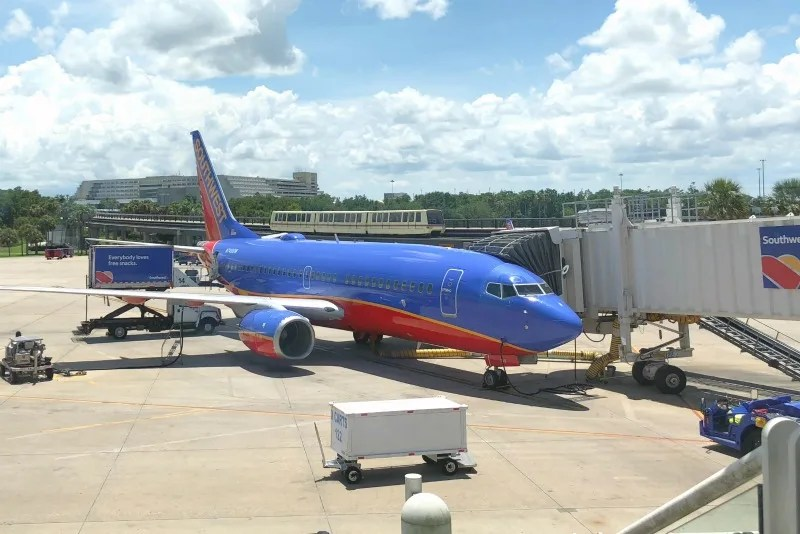 Southwest Credit Cards - Plane at Orlando