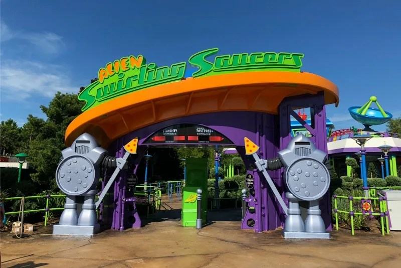 Toy Story Land Alien Swirling Saucers Queue Entrance