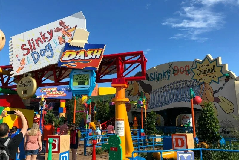 Toy Story Land Slinky Dog Dash Queue Entrance