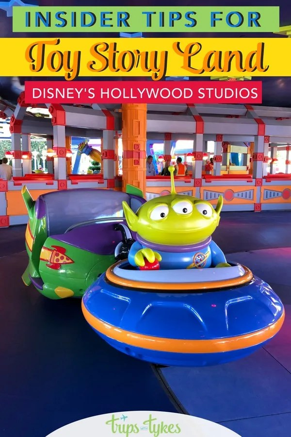Visiting the brand new Toy Story Land in Disney's Hollywood Studios at Walt Disney World? Get top tips to beat the lines, recommendations for the best food from Andy's Lunch Box, and the ultimate ride guide for Slinky Dog Dash, Alien Swirling Saucers, and Toy Story Mania. #toystoryland #tmomdisney #disneyworld #disneysmmc #hollywoodstudios