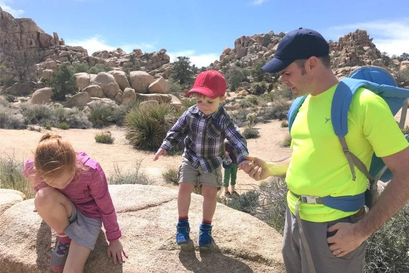 Hiking with Toddlers - Joshua Tree Rocks