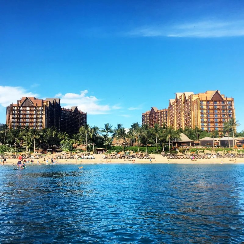 Disney Cruise Line vs. Disney Aulani - Aulani from Ocean